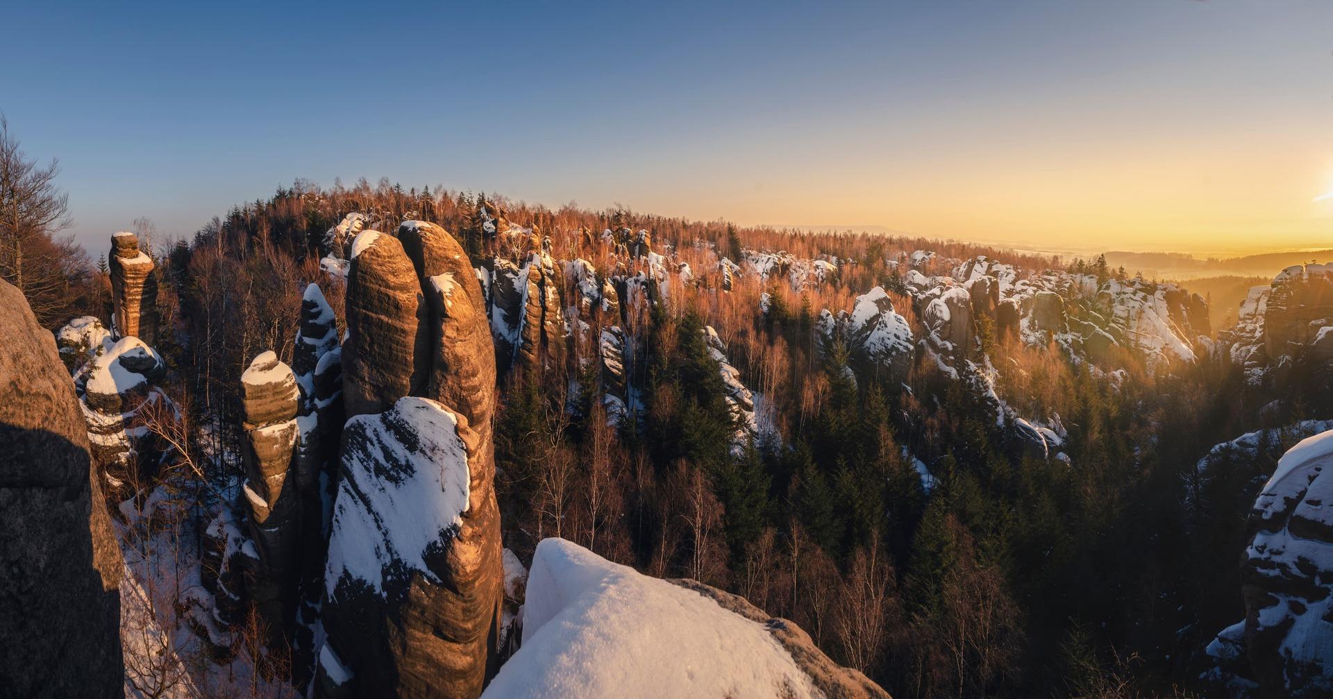 Broumovské stěny zima 2
