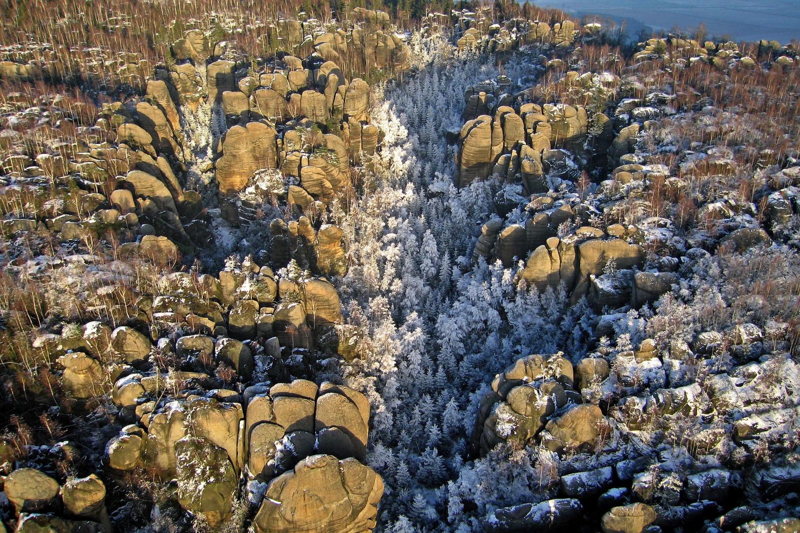Broumovské stěny zima 6