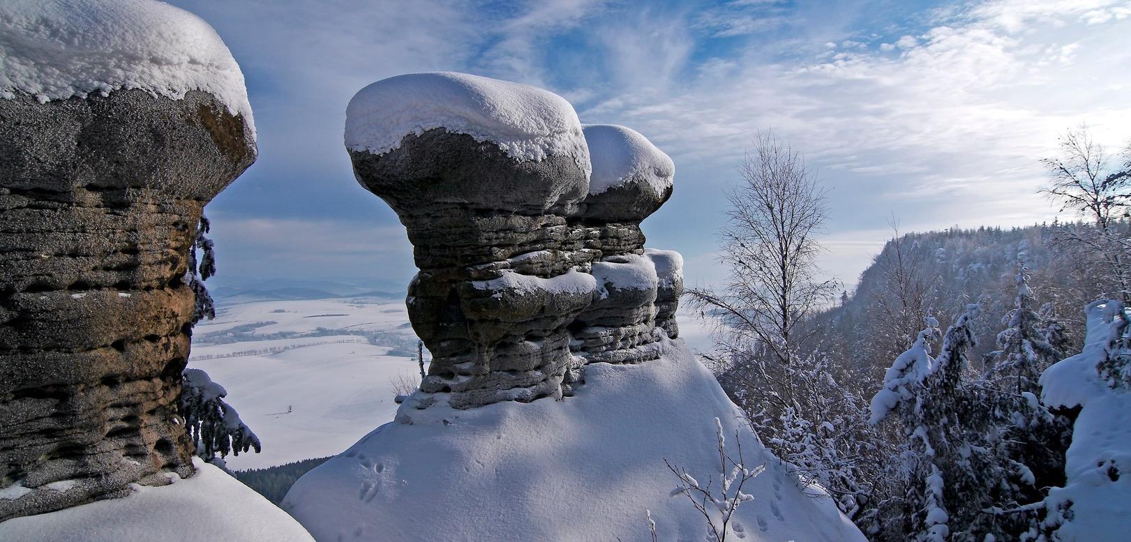 Broumovské stěny zima 10
