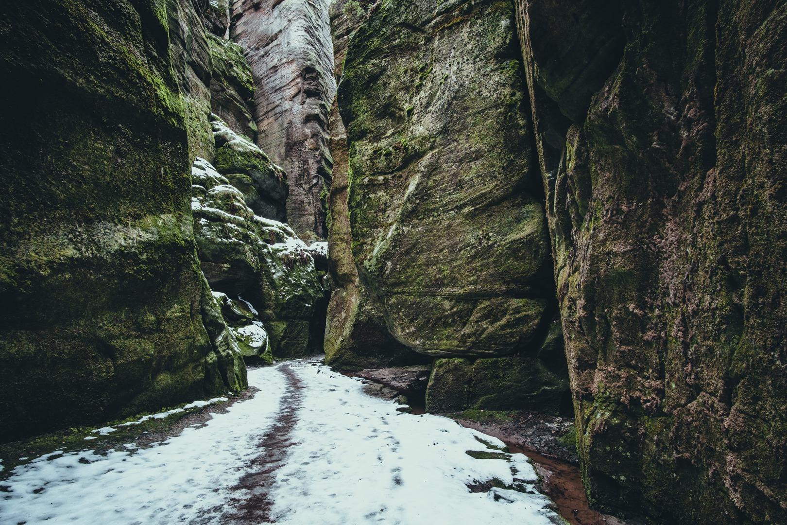 Teplické skály zima 1