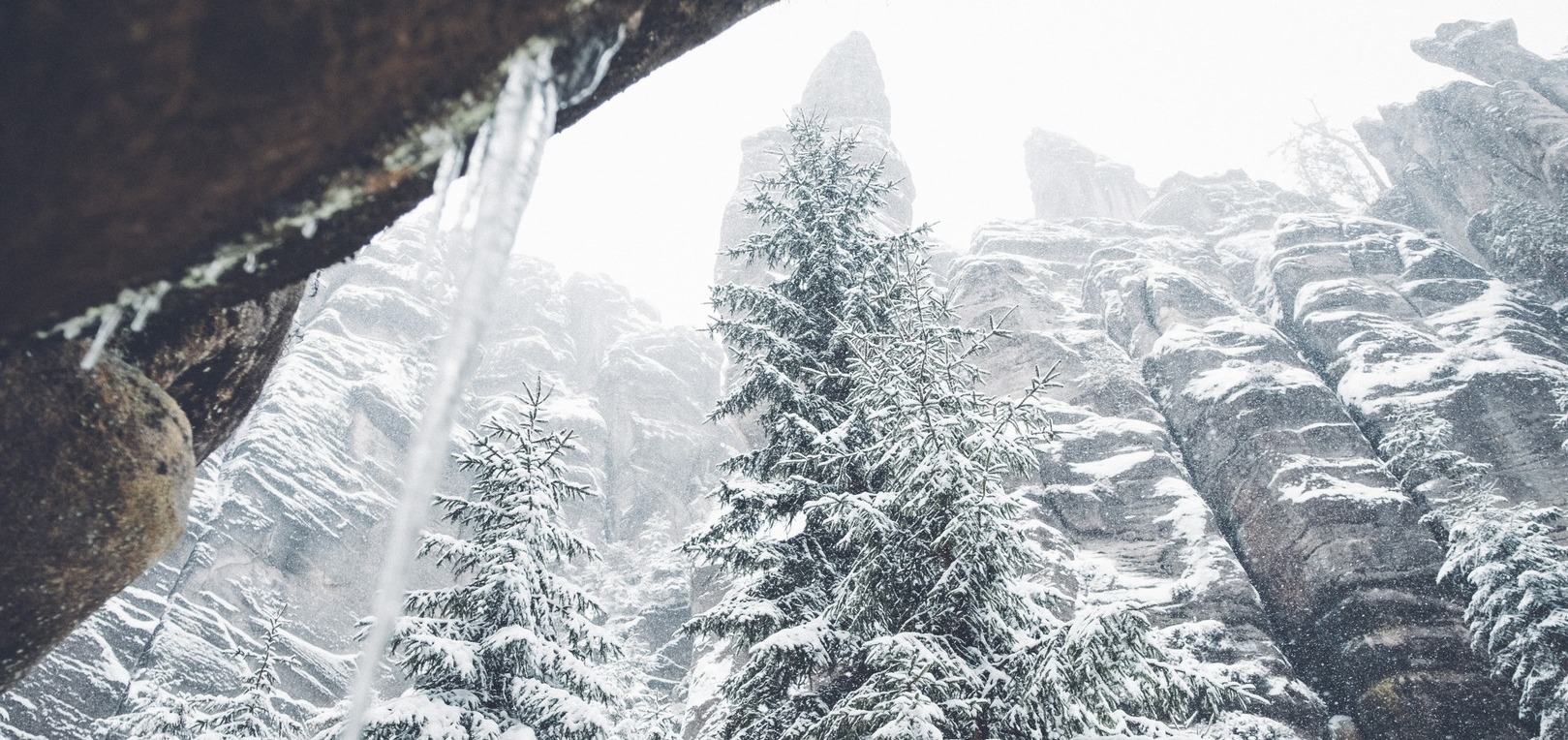 Teplické skály zima 2