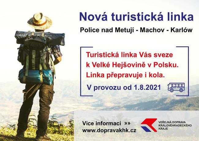 Nová turistická linka na trase Police nad Metují - Machov - Karłów