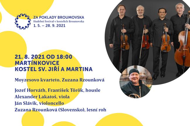 Slovenské Moyzesovo kvarteto připomene na festivalu Za poklady Broumovska výročí narození Antonína Dvořáka