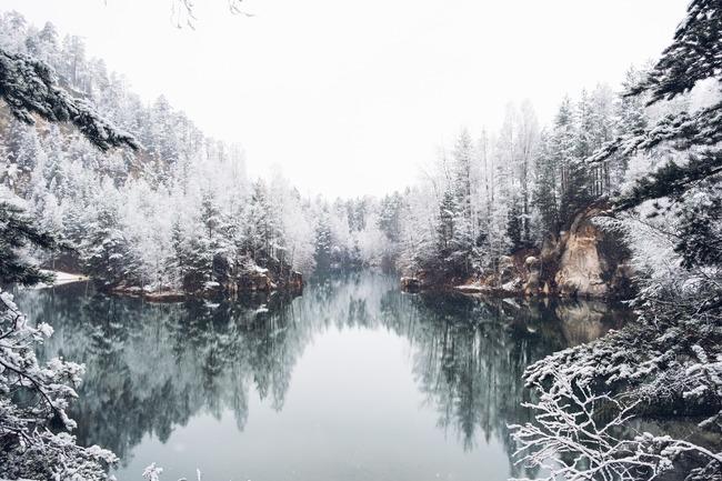 Zima na Broumovsku