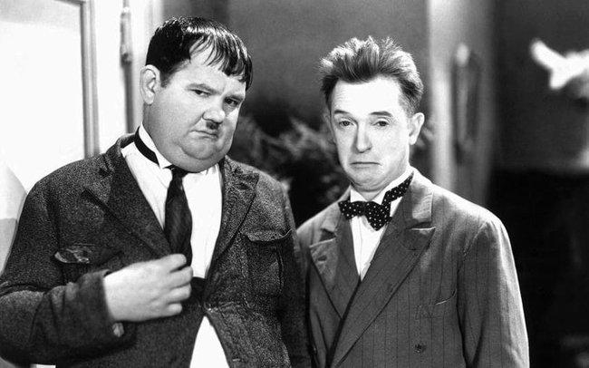 Promítání grotesek: Laurel a Hardy