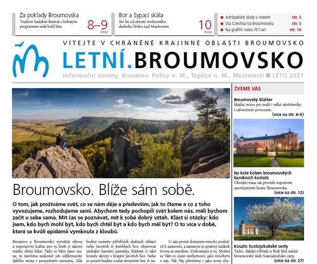 Turistické noviny Letní.Broumovsko vyjdou již 31. 3. 2021. Těšte se!