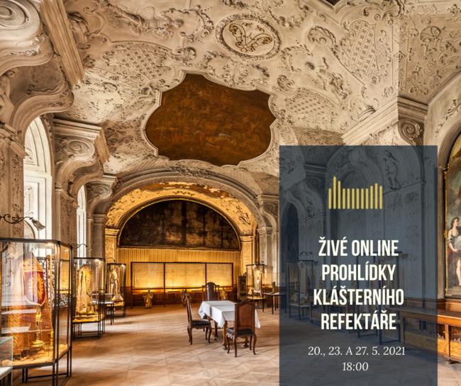 Živá online prohlídka klášterního refektáře