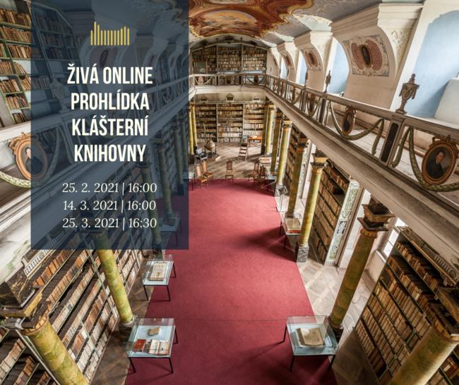 ŽIVÁ online prohlídka klášterní knihovny